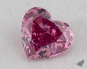 heart0.05 Carat fancy vivid purplish pink