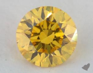 round0.21 Carat fancy vivid yellow
