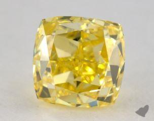 cushion1.00 Carat fancy intense yellowVS1