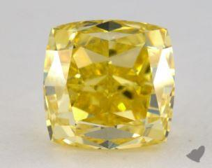 cushion1.05 Carat fancy vivid yellowVS1