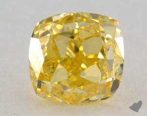 cushion1.01 Carat fancy vivid yellowVS2