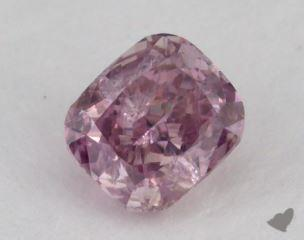 cushion0.30 Carat fancy deep purple pinkI1