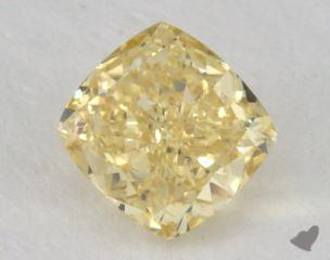cushion0.61 Carat fancy intense yellowSI1