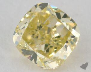 cushion0.60 Carat fancy greenish yellow
