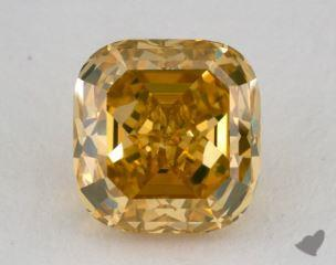 cushion5.36 Carat fancy vivid yellowVS1
