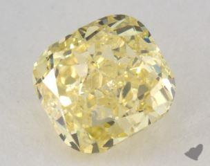 cushion1.18 Carat fancy intense yellowI1