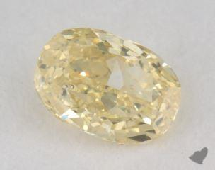 oval0.40 Carat fancy yellowSI1