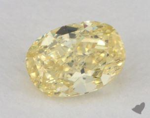 oval0.39 Carat fancy intense yellowVS2