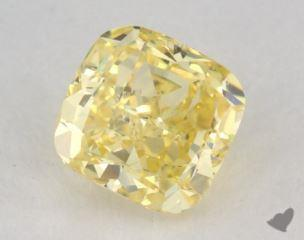 cushion0.62 Carat fancy intense yellowSI2