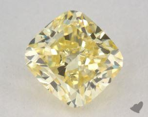 cushion0.72 Carat fancy yellowVS2