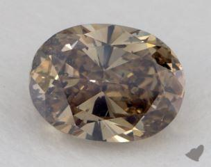 oval1.63 Carat fancy dark yellow brownI1