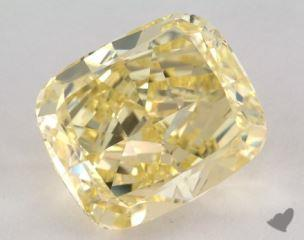cushion7.51 Carat fancy intense yellowVS2