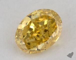 oval0.57 Carat fancy vivid yellow