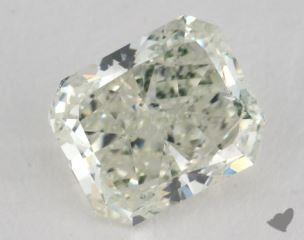 radiant0.90 Carat fancy light yellowish green