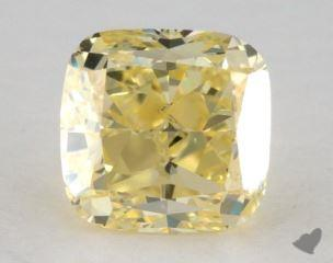 cushion2.01 Carat fancy yellowVS2