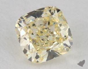 cushion0.54 Carat  yellowVVS2