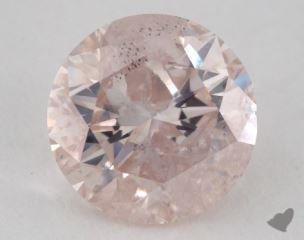 round2.09 Carat fancy light orange pink