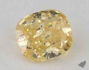 cushion1.00 Carat fancy intense yellow