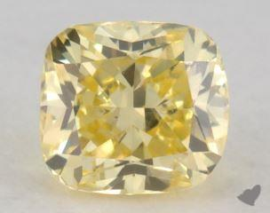 cushion0.72 Carat fancy intense yellowSI1