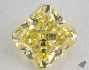 radiant0.54 Carat fancy intense yellowVS2