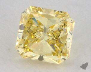 radiant0.50 Carat fancy intense yellowVS1