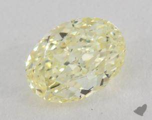 oval1.01 Carat fancy light yellowVS1