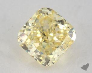 cushion1.01 Carat fancy yellowVS2