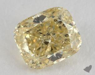 cushion1.05 Carat fancy yellowI1