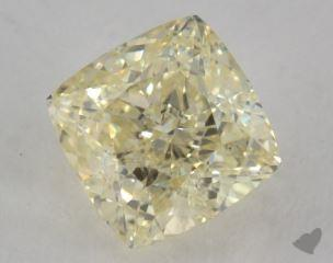 cushion1.50 Carat fancy light yellowSI1
