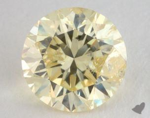round1.52 Carat fancy light yellow