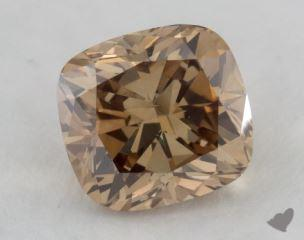 cushion2.07 Carat fancy yellowish brownSI1