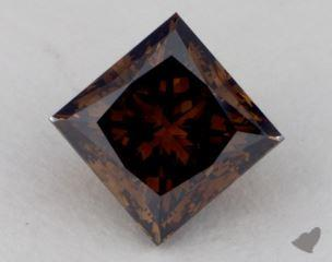princess2.37 Carat fancy dark orangy brownVVS1