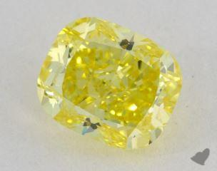 cushion1.51 Carat fancy intense yellowVS1