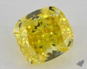 cushion1.22 Carat fancy vivid yellowVS2