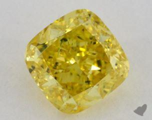 cushion2.33 Carat fancy vivid yellowVVS2