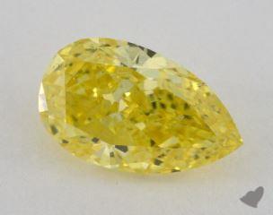 pear3.01 Carat fancy vivid yellowSI1