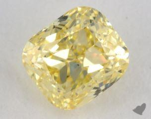 cushion0.76 Carat fancy intense yellowSI1