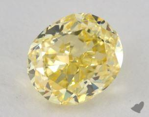 oval0.84 Carat fancy intense yellowVS2