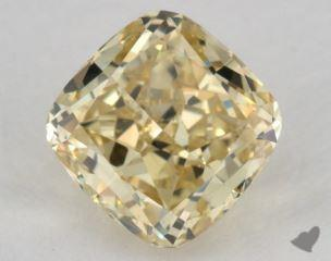 cushion1.05 Carat fancy yellowVS2