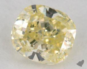 cushion0.59 Carat fancy greenish yellowVS1