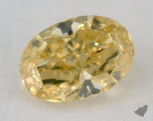 oval0.85 Carat fancy intense yellow
