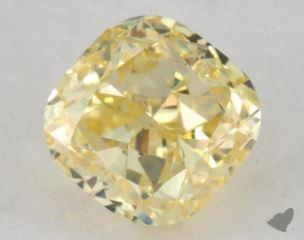 cushion0.71 Carat fancy yellowVS1