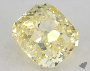 cushion0.72 Carat fancy yellowSI2