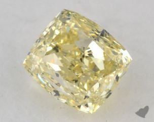cushion0.84 Carat fancy yellowVS1