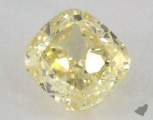 cushion0.82 Carat fancy yellowVS1