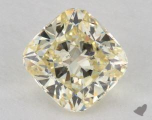 cushion1.32 Carat fancy light yellowSI2