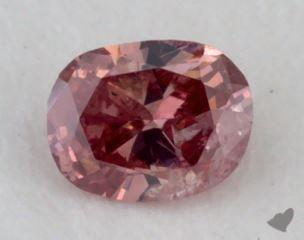 cushion0.09 Carat fancy deep pink