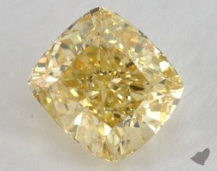 cushion1.43 Carat fancy intense yellowVS1