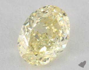 oval1.17 Carat fancy light yellowSI2