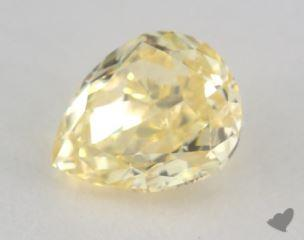 pear0.52 Carat fancy intense yellowVS1